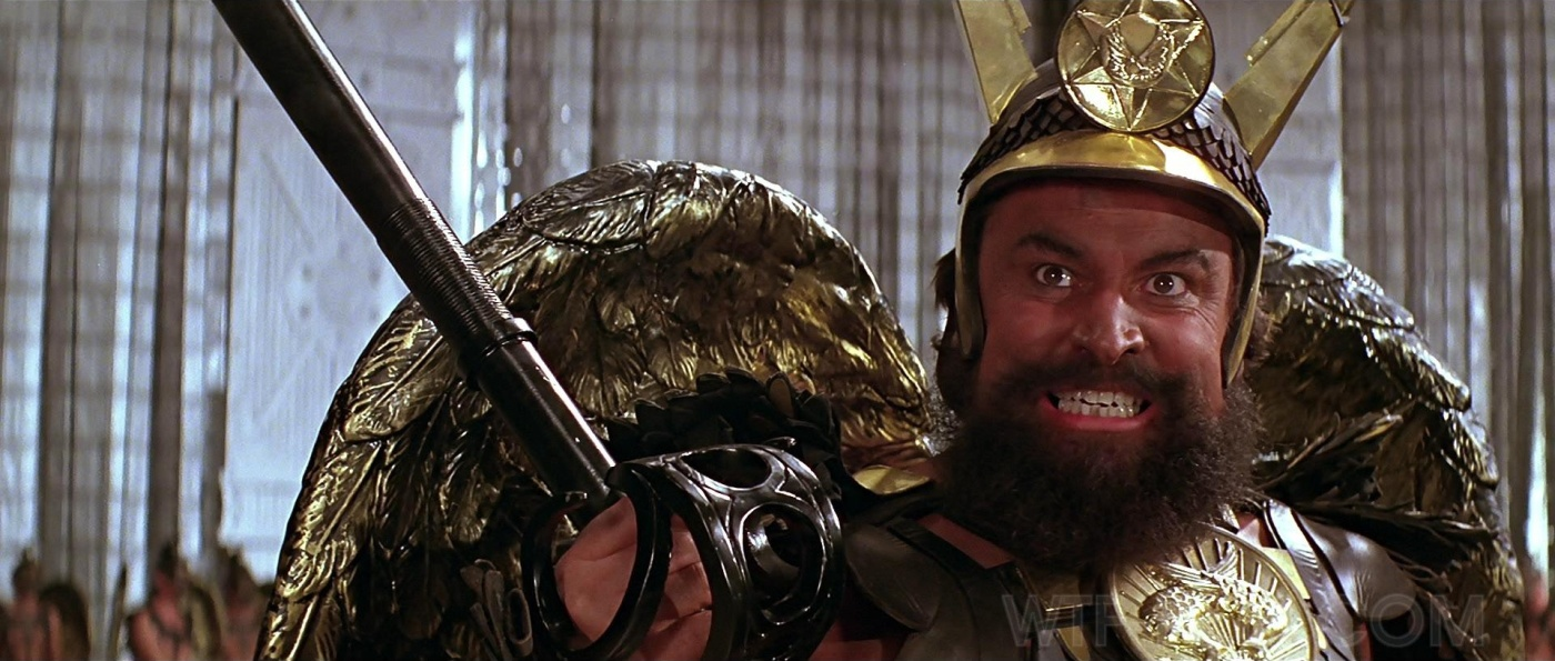 Brian Blessed as Vulcan in the gloriously camp 1980 sci-fi hit, Flash Gordon
