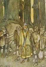 Fionn mac Cumhaill Comes to Aid the Fianna by Stephen Reid, 1932