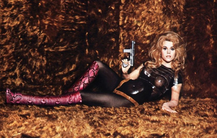 Jane Fonda as the character of the same name in the camp 1968 sci-fi movie Barbarella