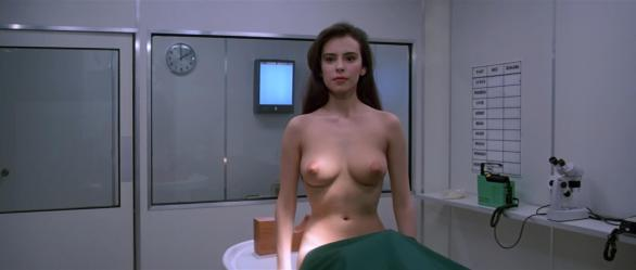 Mathilda May as the vampire-like alien in the 1985 sci-fi movie Lifeforce