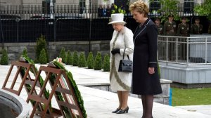 Queen Elizabeth honours Irish Republican dead the Garden of Remembrance 2011