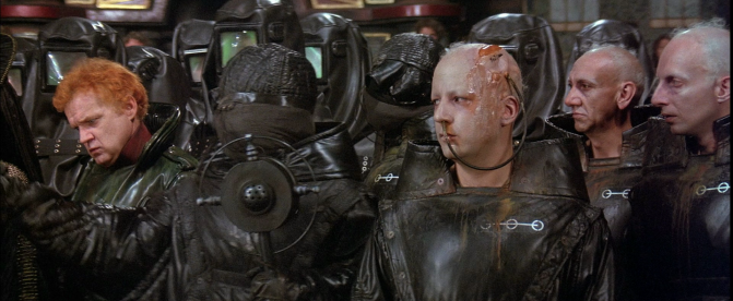 Representatives of the House Harkonnen, the Sardaukar and the Guild Navigators in the David Lynch movie Dune