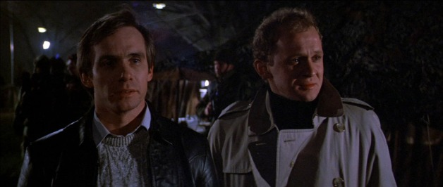 Steve Railsback and Peter Firth in the cult sci-fi horror Lifeforce