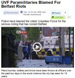 Sky News, British Unionist Attacks In Belfast