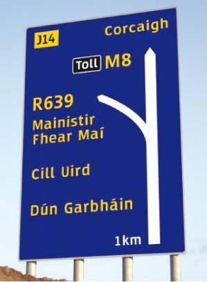 An Irish sign for an Irish Ireland? One day, perhaps.