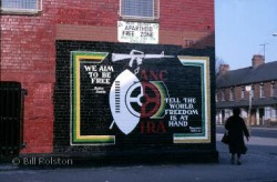 A wall mural in Belfast celebrating the close ties between the revolutionary movements in Ireland and South Africa