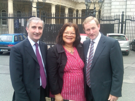 Gay Mitchell, Alvida King, Enda Kenny