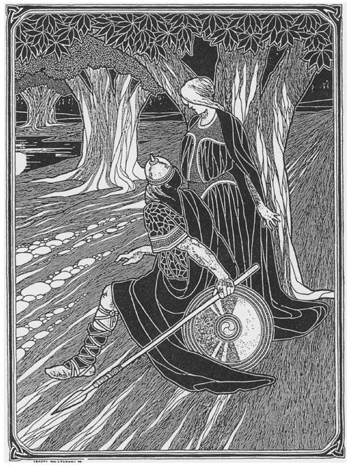 Illustration by Seaghán Mac Cathmhaoil from Fréamacha na hÉireann by Aodmain MacGríogóir, 1906