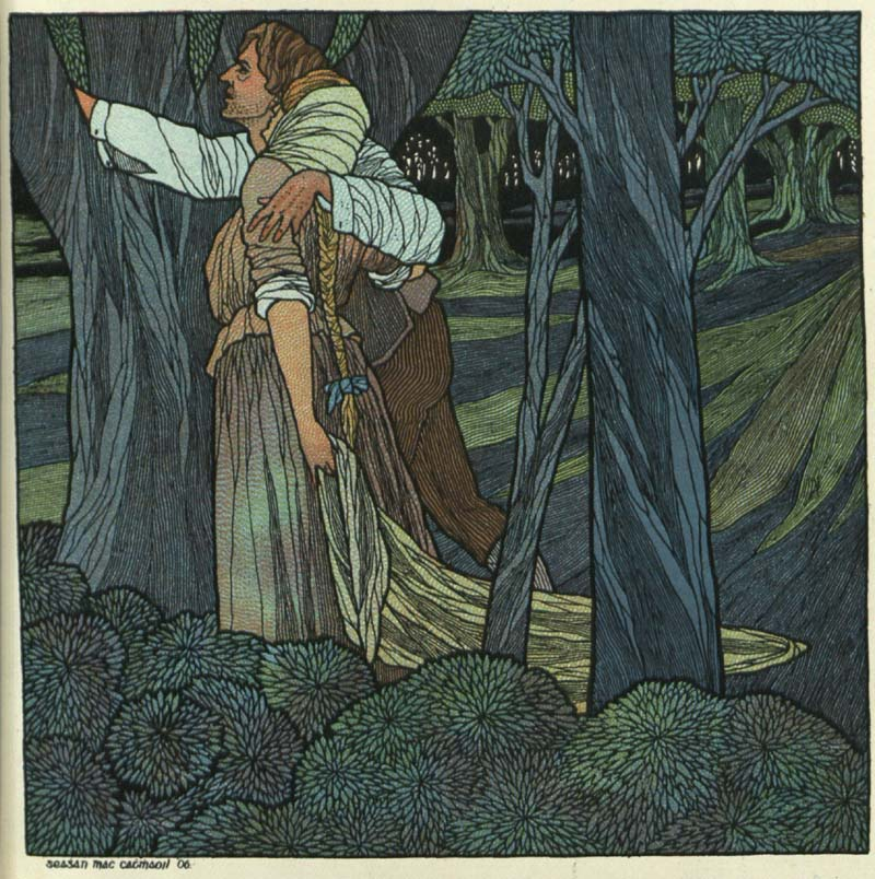 Songs from the Four Winds of Éirinn, III The Green Woods of Traugh (1906), picture by Seaghán Mac Cathmhaoil