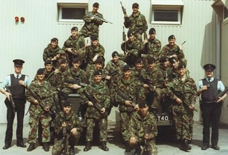 The alphabet soup of British-state militias in Ireland in the 1970s, '80s and '90s - the UDR (now the RIR) and the RUC (now the PSNI)