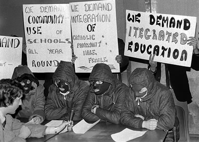 "The Official IRA demands ""itegrated"" education in a discussion with the BBC, 1975 (no, this is not a joke!)"