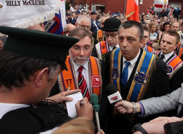 Nelson McCausland, Brother Of The Orange Order Displaying His, Um, Culture