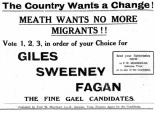 Fine Gael, 1938 - No Irish Here