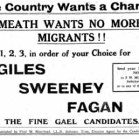 "Fine Gael, ""No Irish Here!"" - A Flashback From 1938"