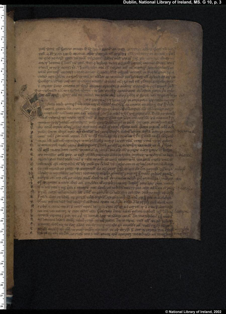 A Medieval Irish manuscript containing part of the Leabhar Gabhála Éireann, Book of the Taking of Ireland, a mythical history of Ireland, Scotland and the Isle of Man