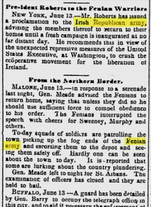 Irish Republican Army - Manufacturers and Farmers Journal - Jun 14, 1866