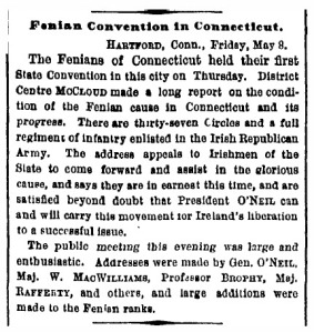 Irish Republican Army - New York Times - May 9, 1868