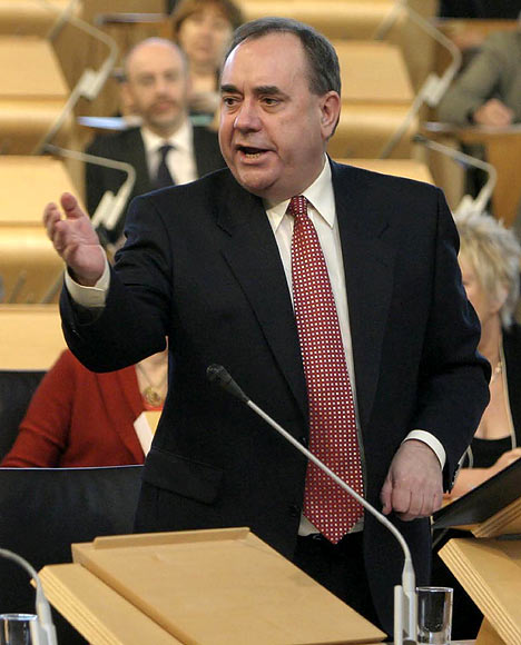 SNP leader and the First Minister of Scotland, Alex Salmond