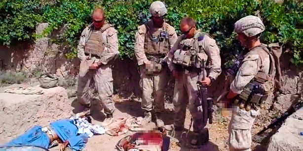 US Soldiers Urinating On Slain Taliban Guerillas