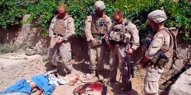 US Soldiers Urinating On Slain Taliban Guerillas