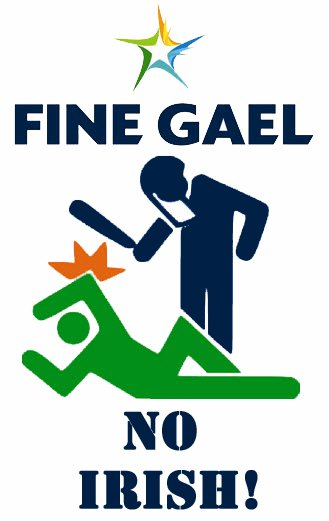 Fine Gael - No Irish