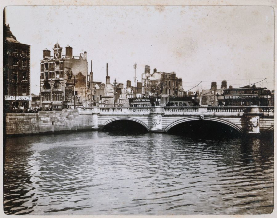 Aftermath of the Easter Rising, O'Connell Bridge, Dublin, Ireland, May 17 1916