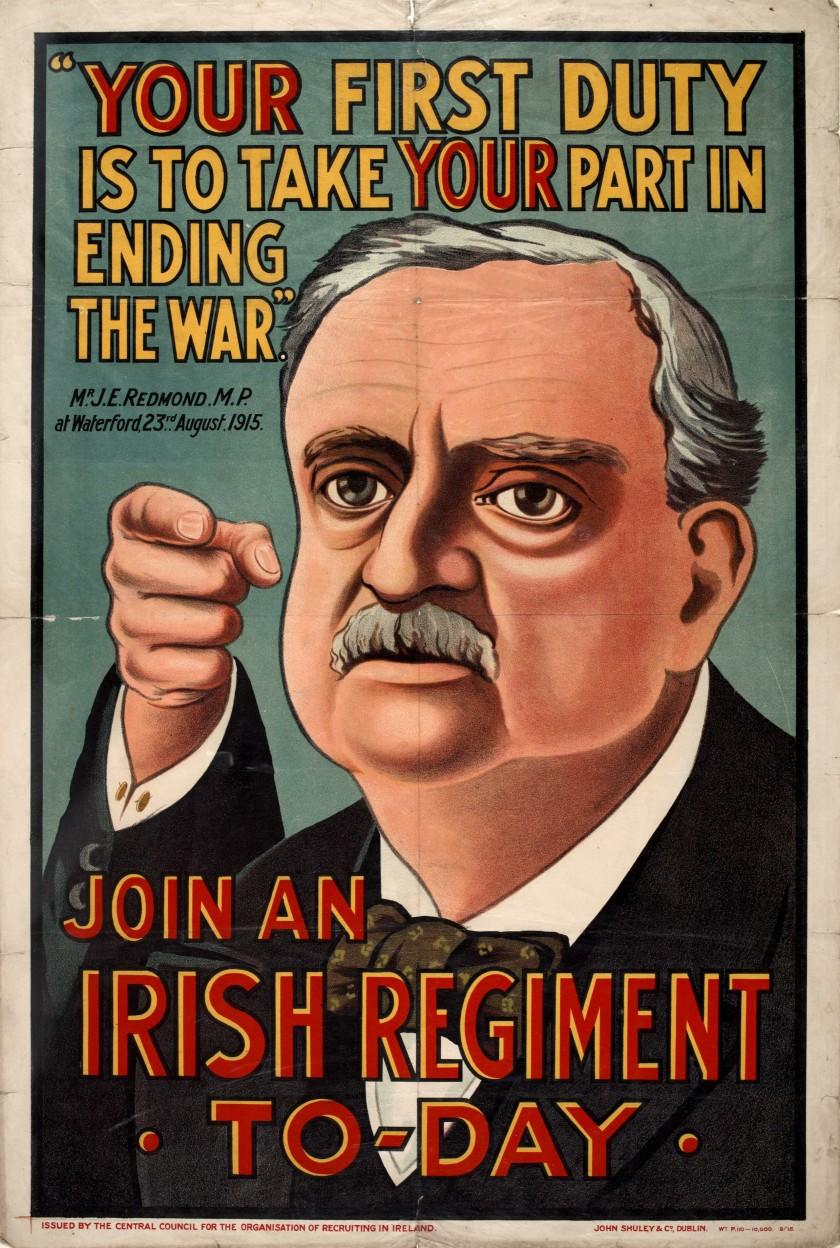 John Redmond British Army Recruitment Poster