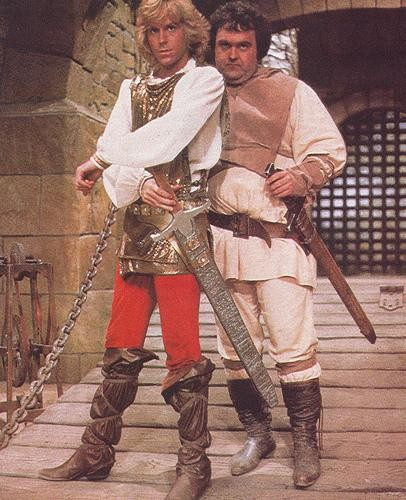 Jeff Conaway and Walter Olkewicz in Wizards and Warriors, 1983