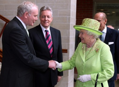 British head of state meets deputy First Minister, Martin McGuinness