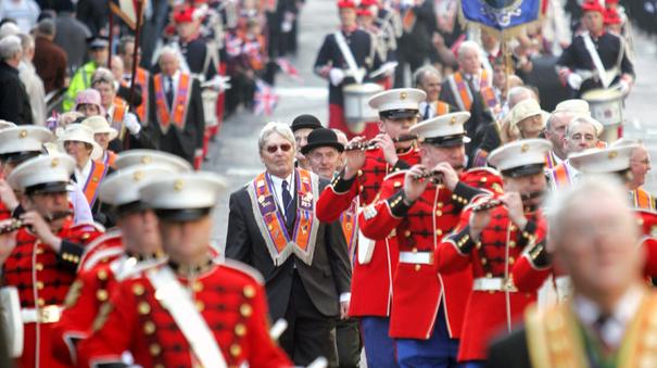Glasgow Orange Order Parade, Militant And Militarist