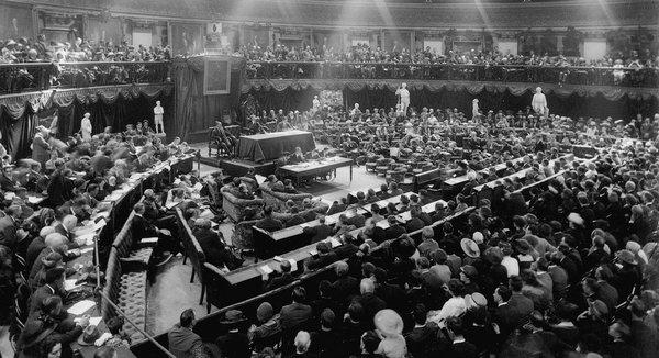 An Chéad Dáil - the First Dáil, the revolutionary assembly of the Irish Republic, Dublin, Ireland, January 21st 1919