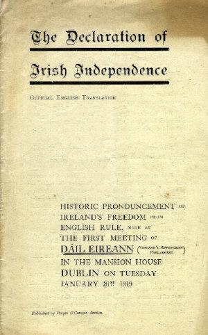 declaration of independence 1919 an sionnach fionn