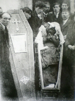 The mutilated body of Patrick Loughnane, age 29, Volunteer of the Irish Republican Army, tortured to death alongside his younger brother Harry, age 22, by the Royal Irish Constabulary, Britain's feared colonial police force in Ireland, 1920