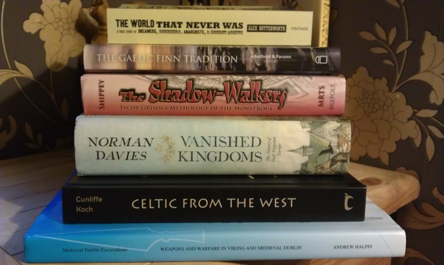New Books - The World That Never Was, The Gaelic Finn Tradition, The Shadow-Walkers, Vanished Kingdoms, Celtic from the West, Weapons and Warfare in Viking and Medieval Dublin