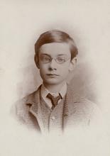 The Irish revolutionary Pádraig Mac Piarais (Patrick Pearse), aged 12-14