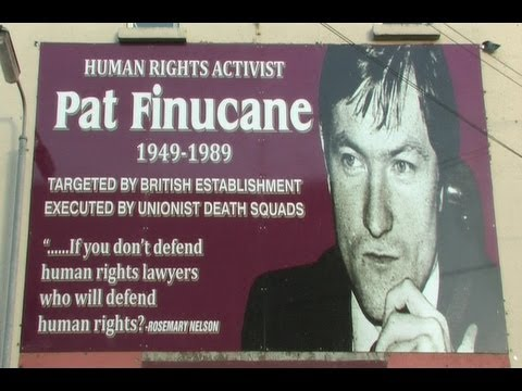 A memorial to Pat Finucane, the Irish human rights lawyer assassinated by British state-sponsored terrorists in the Occupied North of Ireland, 1989