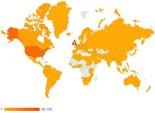 An Sionnach Fionn - 2012 Map For Views By Country