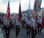 Jamie Bryson, a very public voice of the Ulster People's Forum and the flag protests marching in a quasi-military band (Photo: Ulster Band Scene)