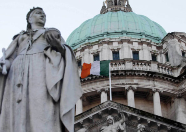 The Irish Tricolour flies over Belfast City Hall – what real democracy would look like in the North of Ireland