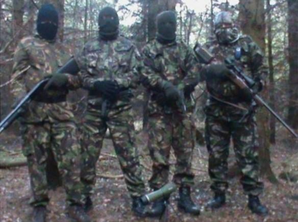 Volunteers of a Continuity Irish Republican Army (CIRA) Active Service Unit, Ireland, 2012