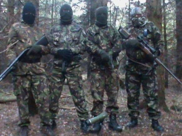 Volunteers of a Continuity Irish Republican Army (CIRA) Active Service Unit, Ireland, 2012