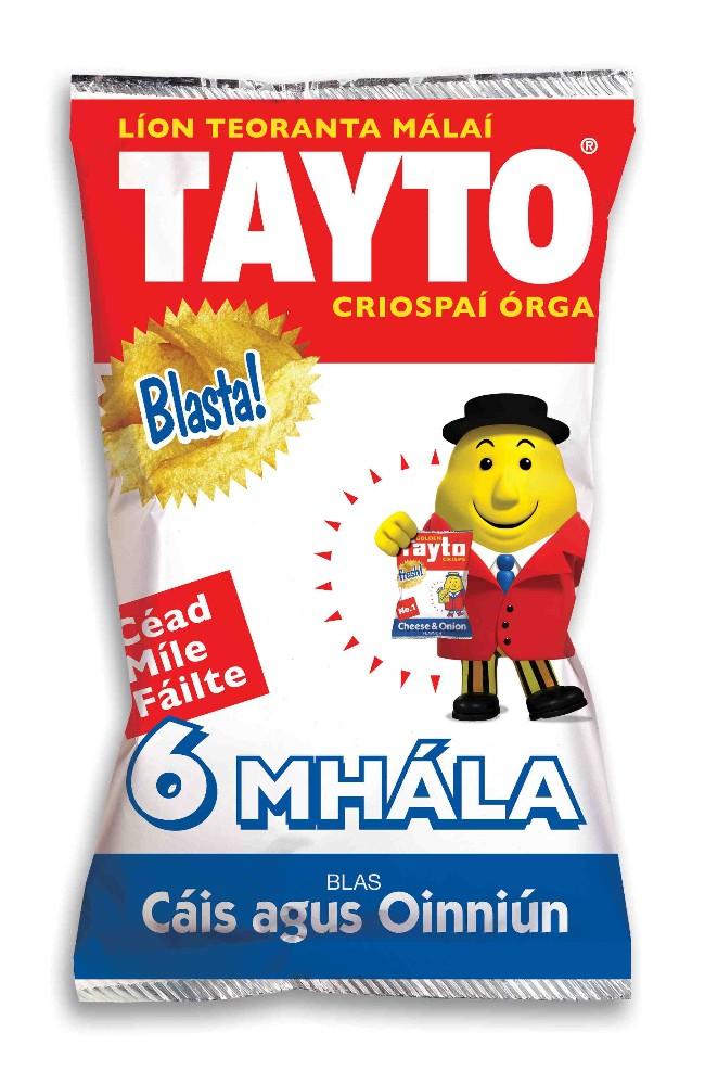 Tayto as Gaeilge - Cáis agus Oinniún