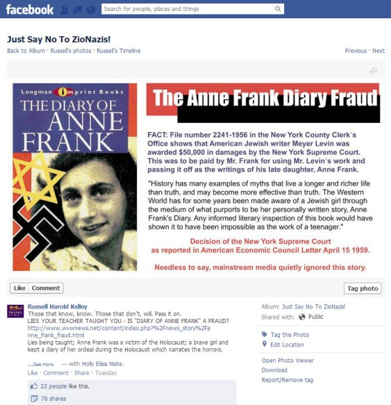 The Diary Of Anne Frank - real history versus Neo-Nazi history