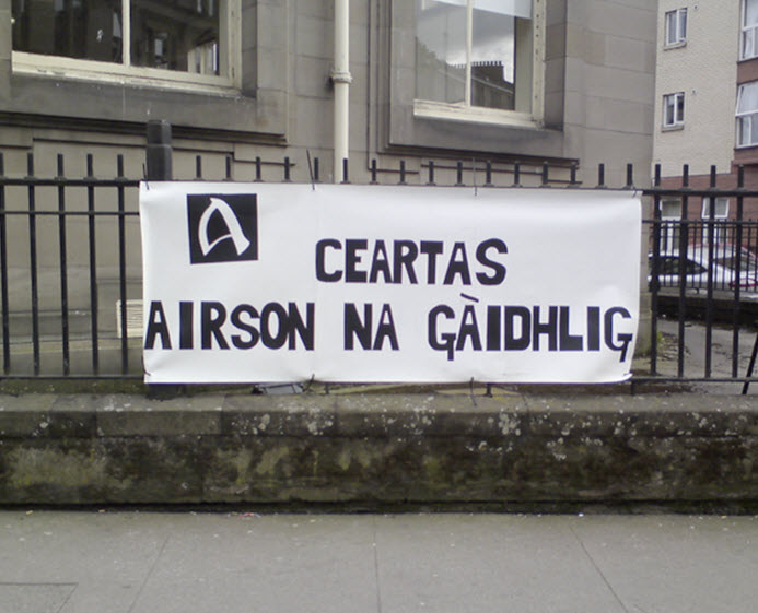 Ceartas Airson Na Gàidhlig - Justice For The Scottish Language