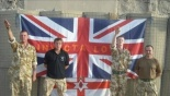 British soldiers in Afghanistan give the Neo-Nazi-Red-Hand salute of the British terror factions in Ireland