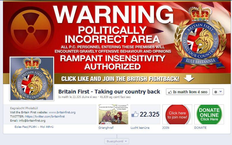Britain First! No Micks or Polacks, please!