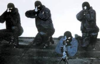 In Ireland the British separatist terrorists of the state-controlled UVF faction pose for the cameras