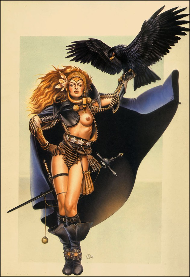 Raven, Swordmistress Of Chaos by Chris Achilléos 1978