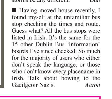 "A letter published by the Metro Herald newspaper calls Irish-speaking citizens of Ireland ""Nazis"""