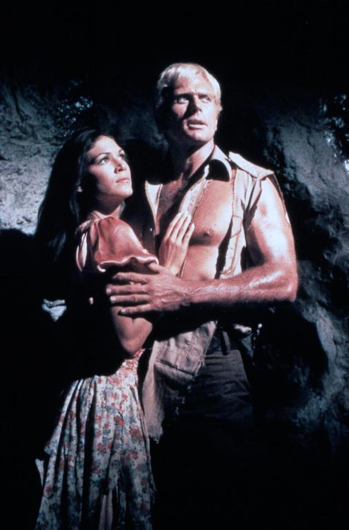 Pamela Hensley and Ron Ely in Doc Savage, The Man of Bronze 1975